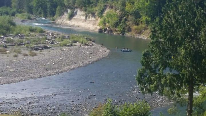 Elwha River Campsite walk in camping
