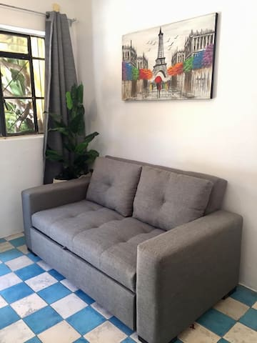 Cómodo sofá cama