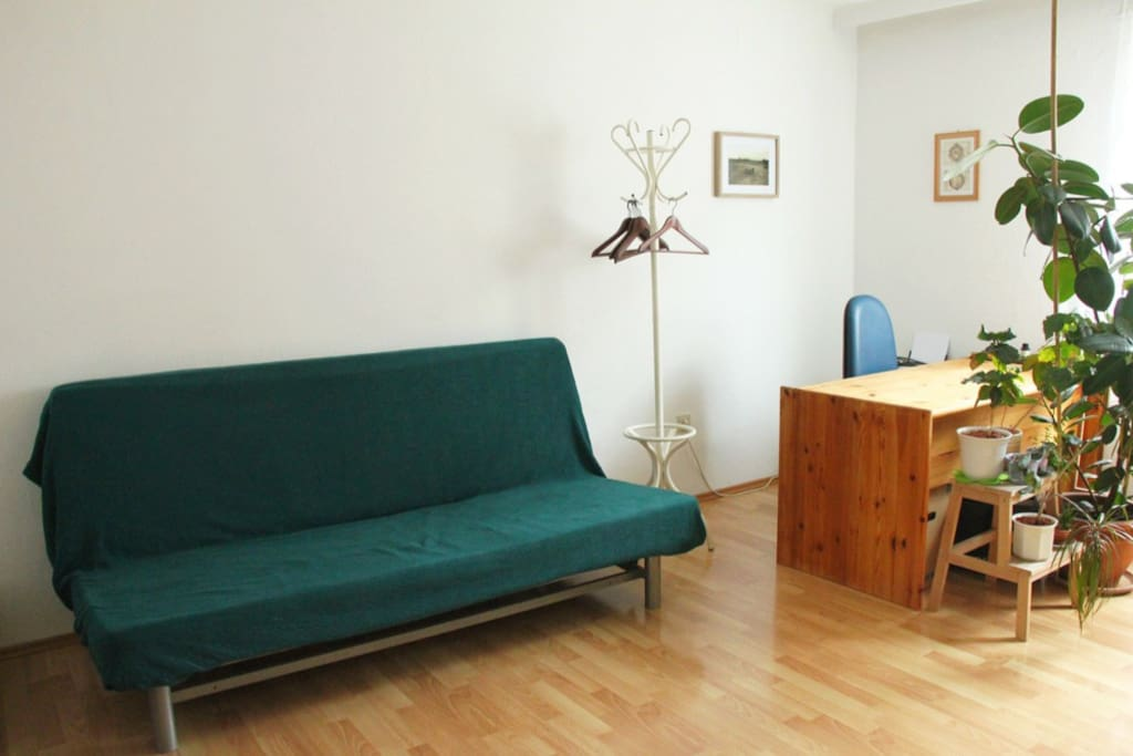 Sofa bed and desk (living room - can be used as second bed room)