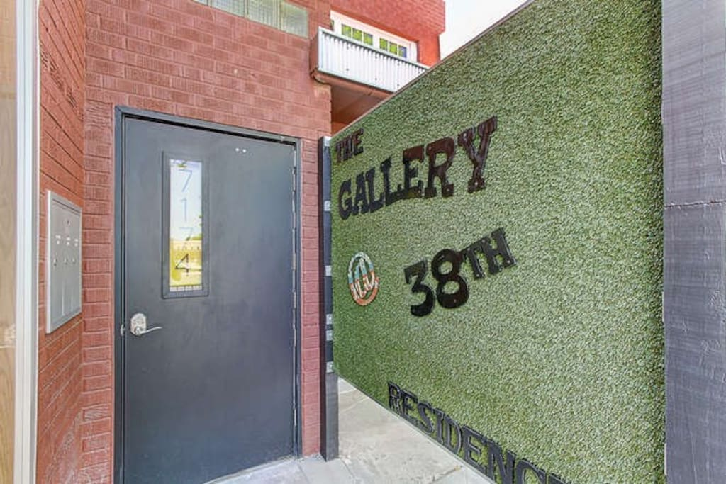 Main entrance to The Gallery on 38th, key coded door