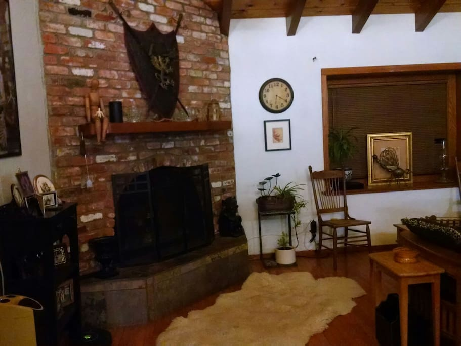 Main house fireplace. /