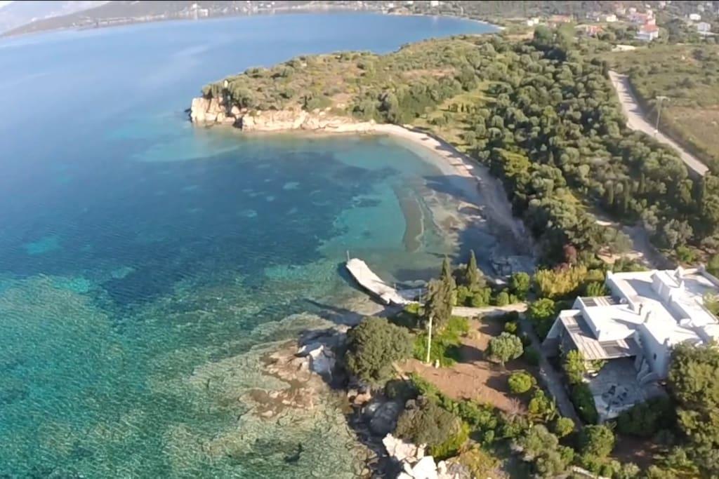 Drone Look_Villa & Private Beach in a property of 35,000sqm