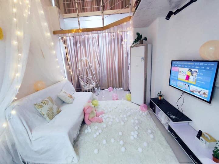 九江学院旁慵懒风Loft复式公寓