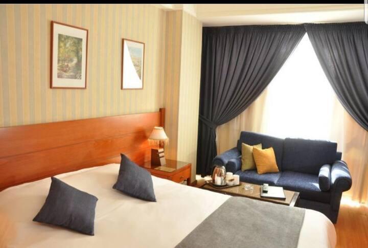Hamra street comfortable room with balcony.