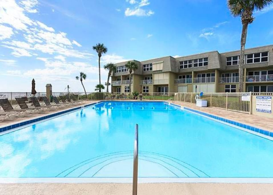 Take a dip in our ocean view pool - You'll have the best of all worlds at Coquina Condo. We are beach front to Crescent Beach, bu