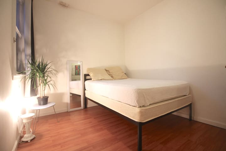 Simple, clean and quiet room sleeps 1-3 guests.