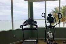 Gym with great bay view