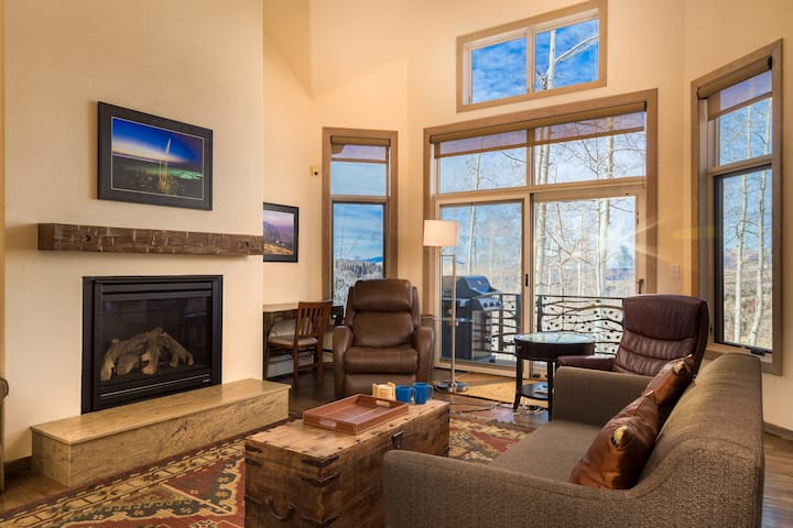 The Ski-in Ski-Out Mountain Village Retreat is Pet Friendly and Ideally Located for Year-Round Adventure