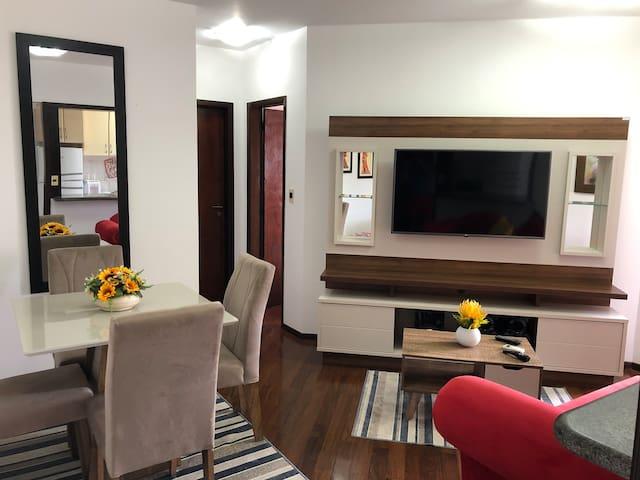 ⭐️Apt novo, Piscina, Smart TV, Centro de Joinville
