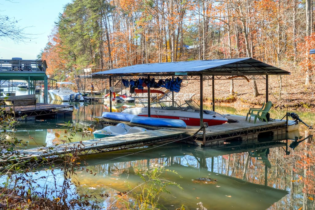 Enjoy use of the private dock on the premises, where you can tie up your boat