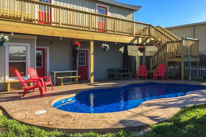 Charming, family-friendly home w/ deck, patio, & shared pool - walk to beaches