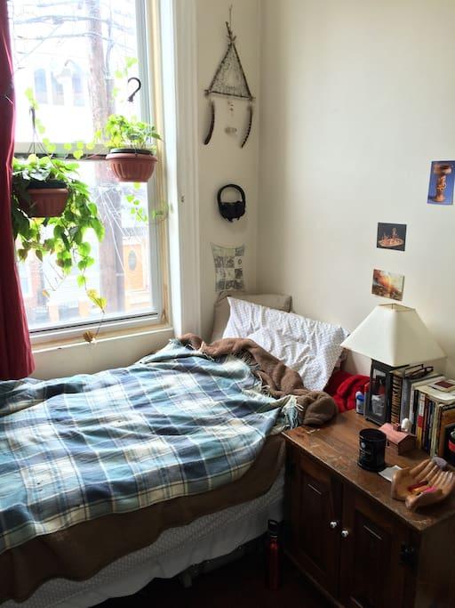 Private sunny bedroom