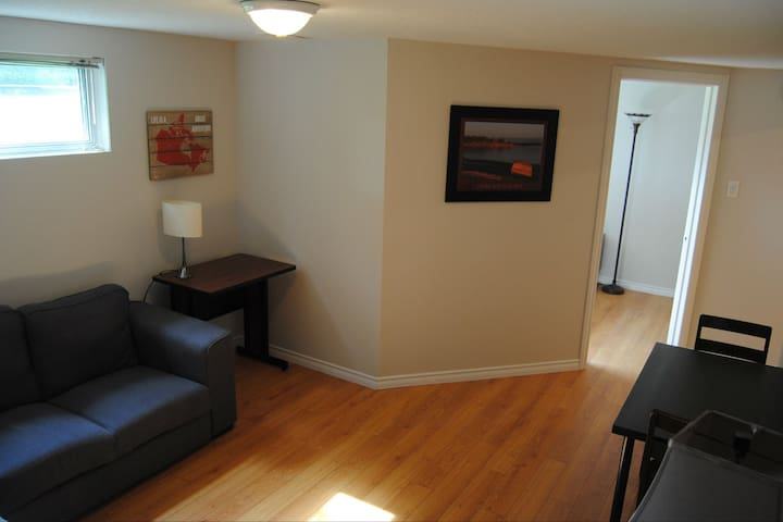 New Private Basement Suite Near Airport