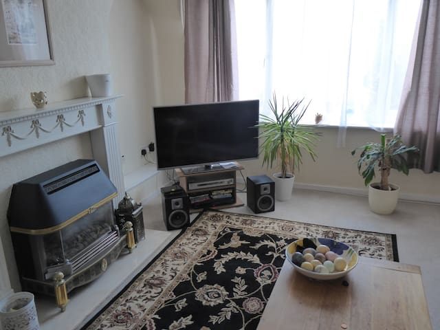 Comfortable end-terraced house in quiet street.