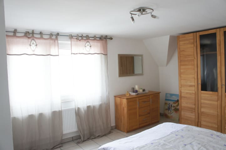 Schlafzimmer - sehr ruhig nach hinten gelegen...
