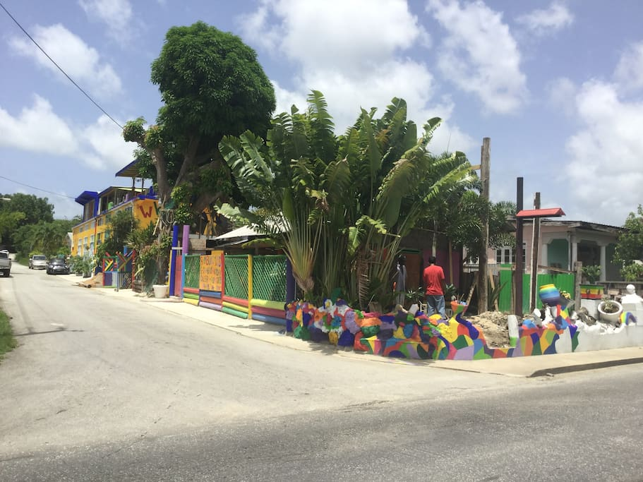 wKd is the most colourful building in Barbados!