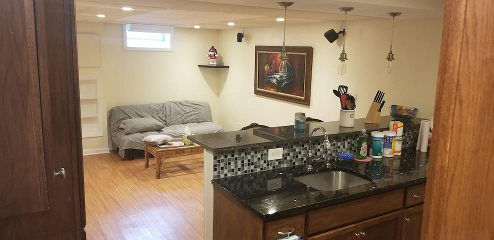 Private studio type apartment