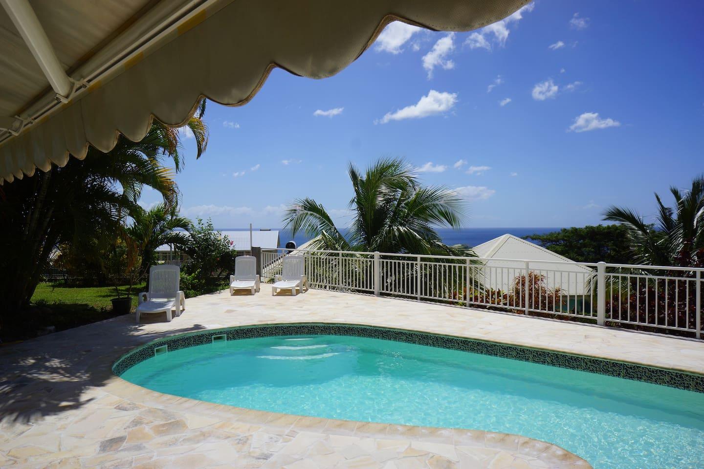Habitation Perle Créole avec sa piscine et son solarium