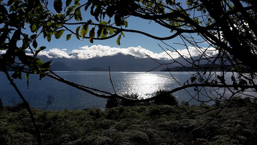 Lake Manapouri twinkling in the sunlight