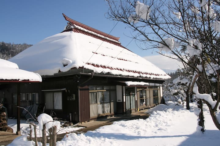 Traditional Japanese farm house near snow monkeys - Nakano