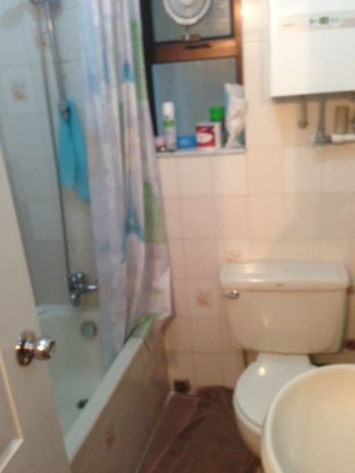 Both bathrooms the same toilet and shower and small bath. 1 family bathroom and 1 ensuite off main bedroom.
