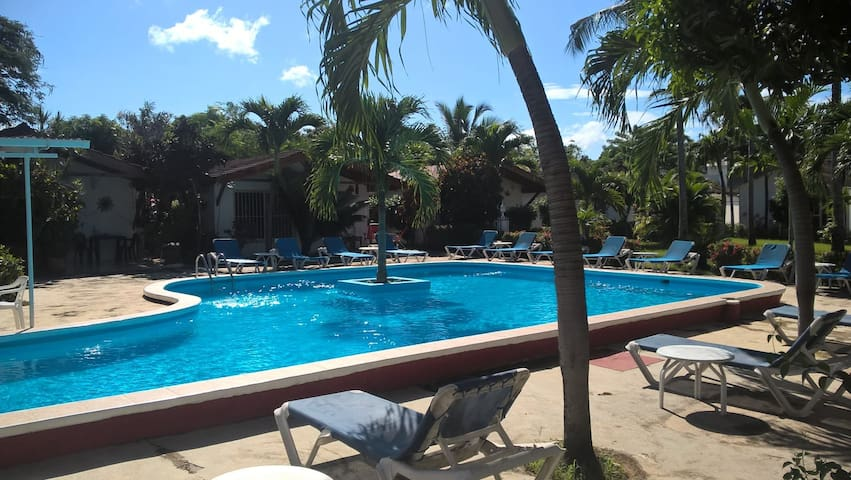 Poolside Studio Cabana. Villa Flor Central Sosua.