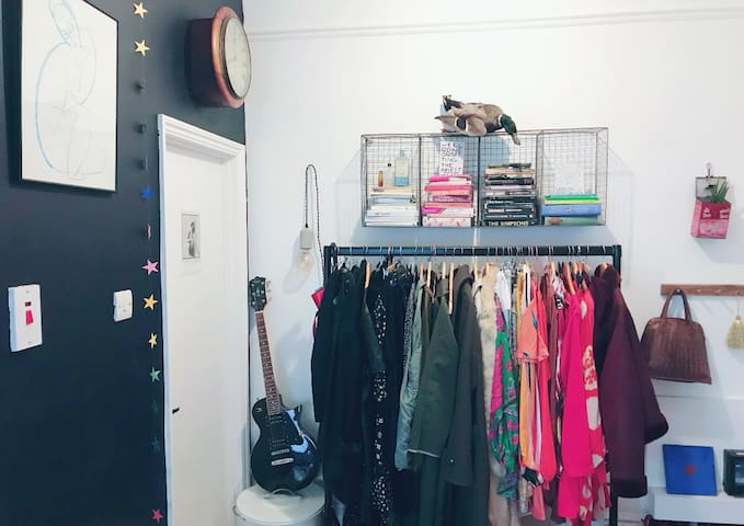Clothes rail (there will be space made for your clothes)