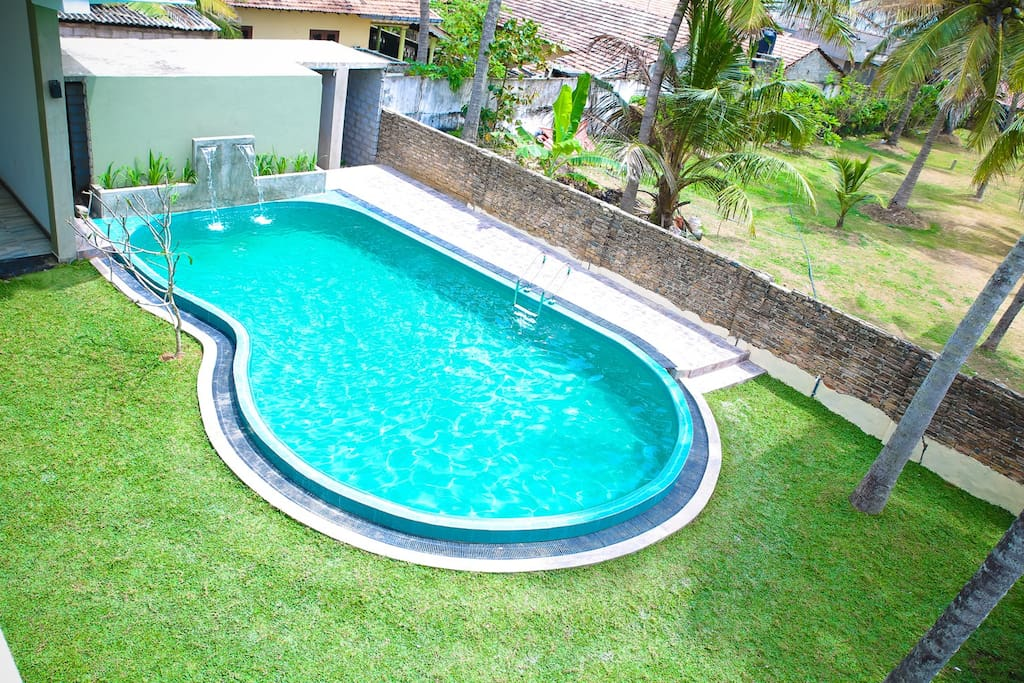 Swimming pool from 1st floor view.