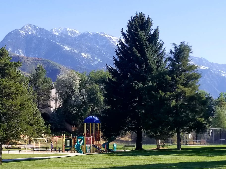 Huge park right nextdoor. Perfect for large parties and events.