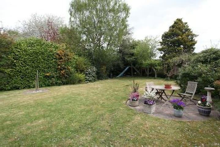 Rear Garden Patio and Tree House
