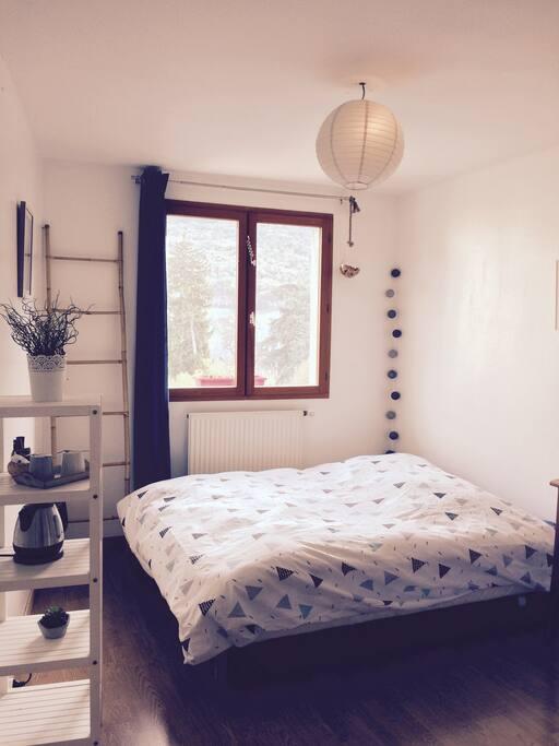 chambre cosy et lumineuse challes les eaux apartments for rent in challes les eaux auvergne. Black Bedroom Furniture Sets. Home Design Ideas