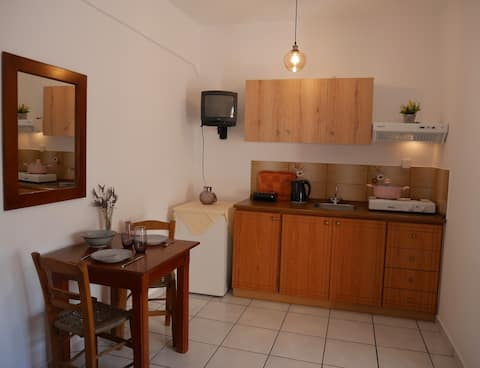 Chrysoula's Convenient Triple Room with Yard
