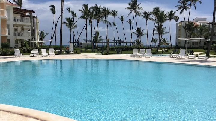 Lovely 1st Floor 3BR Beachfront Condo Punta Cana