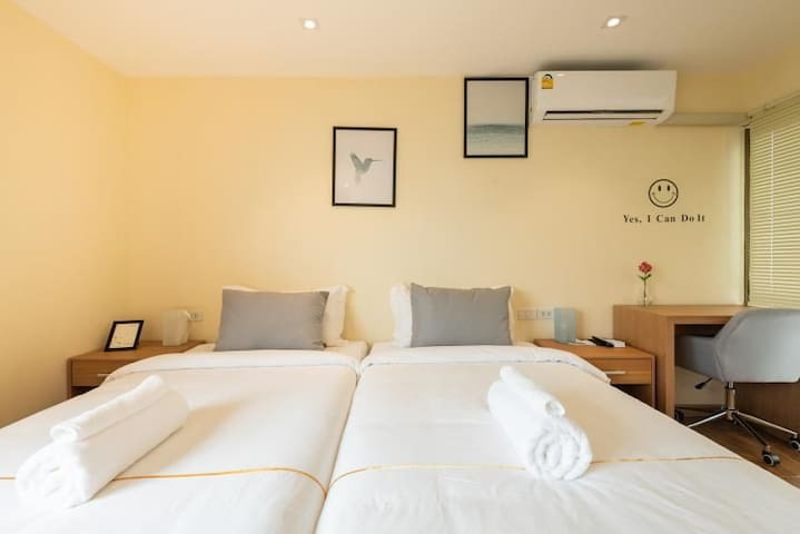 Sukhumvit50 酒店式公寓 【开间】双床房 bts onnut