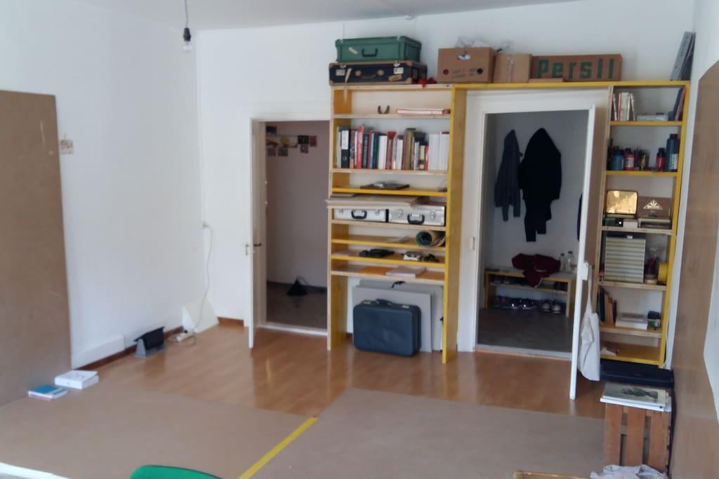 Wohnzimmer / Atelier