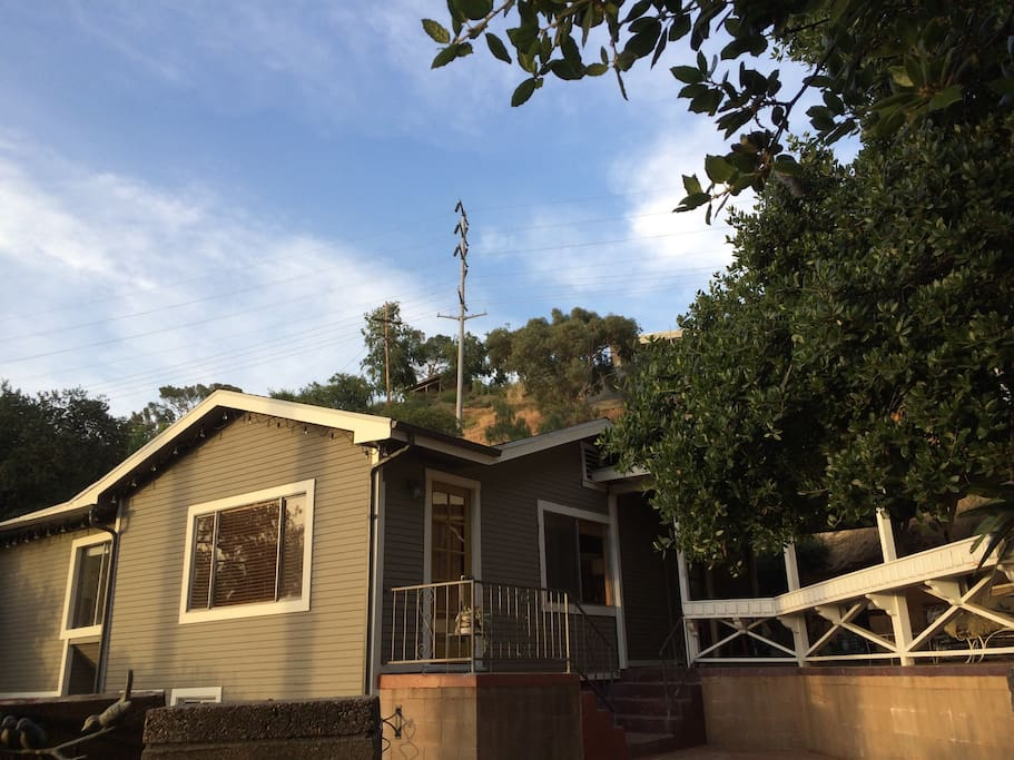 1923 Bungalow set butted up against Pasadena hills