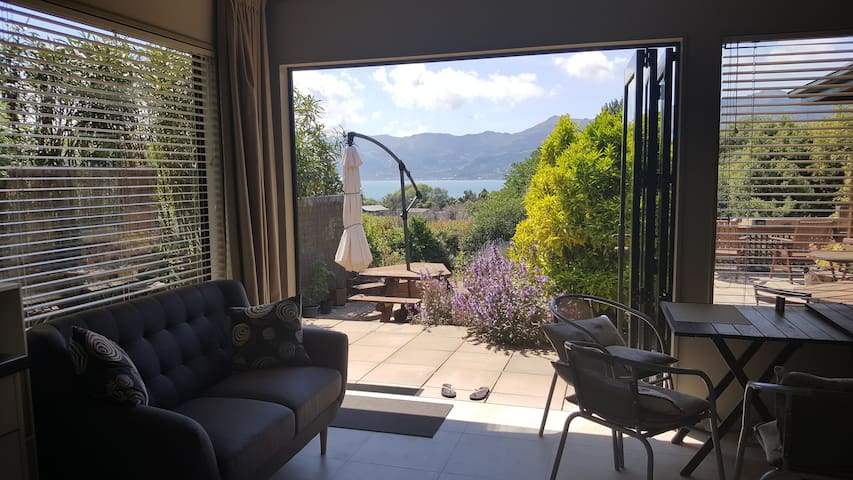 View from Queen Room 1, overlooking Akaroa Harbour.
