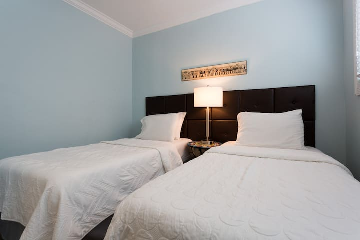 2nd bedroom with 2 twin beds  Bedroom 2
