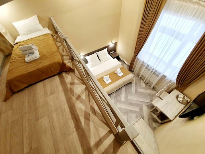 """Стандарт 2-уровневый, """"Облака"""", апарт-отель, Бийск"""