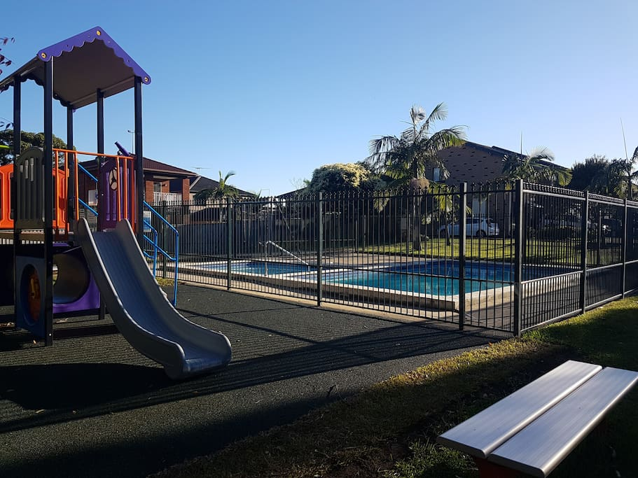 Playground with pool and toddler pool