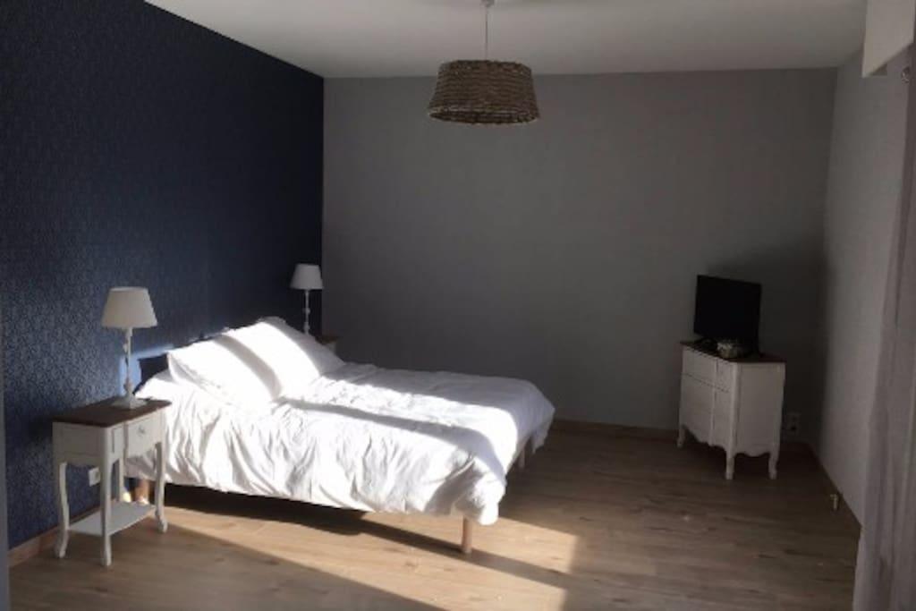 Spacieuse chambre avec salon et terrasse privatifs for S bain cholet