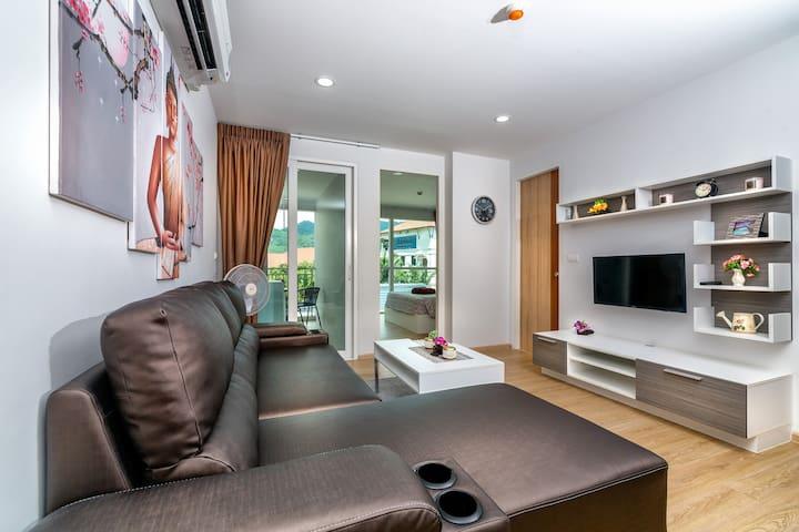 Stylish 1 bedroom apartment @Kata, beach - 900 m