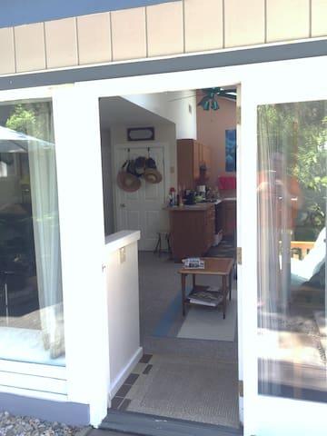 Front door, deadbolt lock on front & north side exit doors