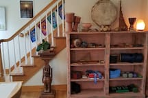 The house is loaded with percussion instruments and flutes to get your ancestral vibe going