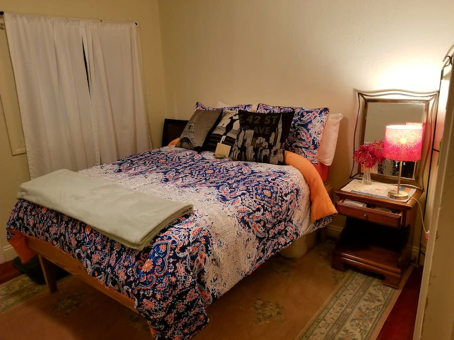 Warm, cozy goose down comforter and a new synthetic down all season comforter I side a new duvet cover!