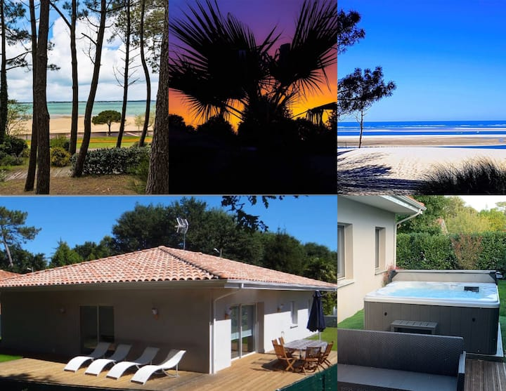 maison130m2+jacuzzi bassin ArcachonLAC/OCEAN/FORET