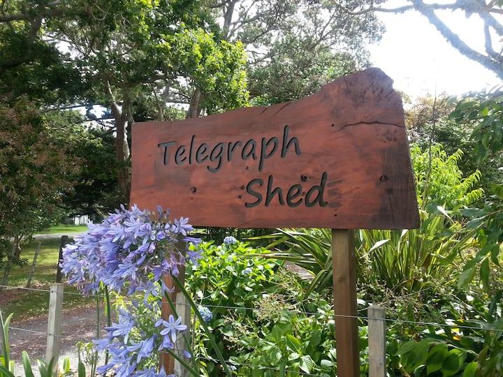 Telegraph Shed Waimate North. No extra fees