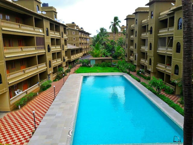 1BHK Apartment with 2pools.