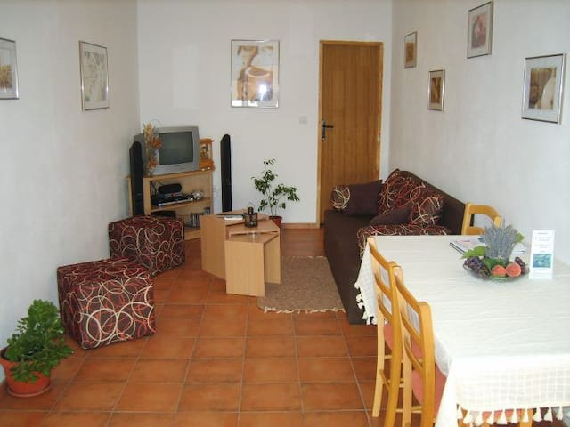 Air-con flat minutes from beach - Radovići - Apartamento