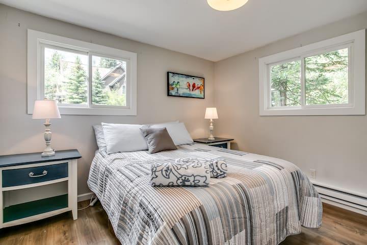 Bedroom 1, queen bed, plenty of closet space